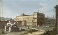 ansicht des quirinals in rom by jacopo fabris