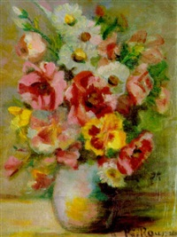 still life with flowers by jeanne rij-rousseau