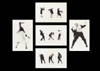 men in the cities (set of 5) by robert longo