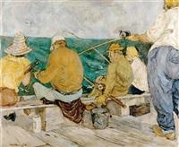 sunday fishermen by miller