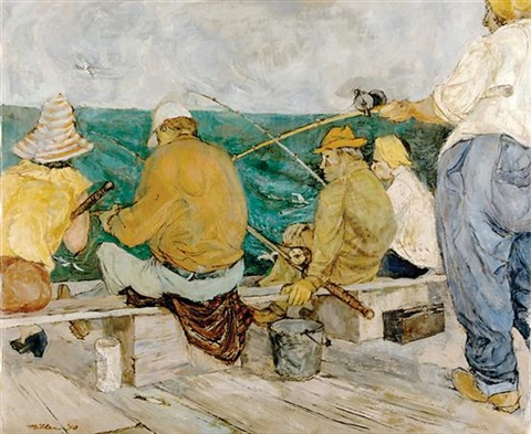 sunday fishermen by miller