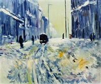 snow, manchester by james lawrence isherwood