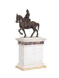 a hug bronze figure bartolomeo colleoni by andrea del verrocchio