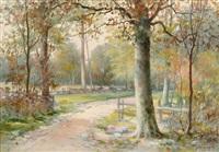 spring landscape by john elwood bundy