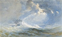 a ship foundering in a gale by edward duncan