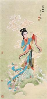 虹桥赠珠 立轴 设色纸本 by ren shuaiying