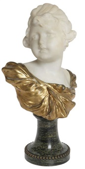 buste d'une jeune fille by george van vaerenbergh