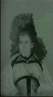 trachtenportrait eines jungen madchens by anna abys-lotz