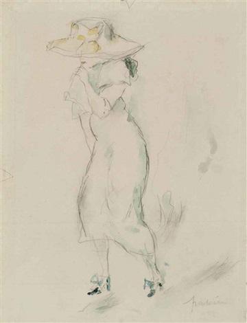 femme au chapeau by jules pascin