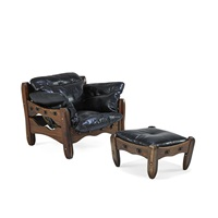 rare descanso lounge chair and ottoman by don shoemaker