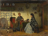 a friesland interior by sipke (cornelis) kool