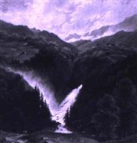 der f,tschbach im lindthal, kanton glarus by hermann herdtle