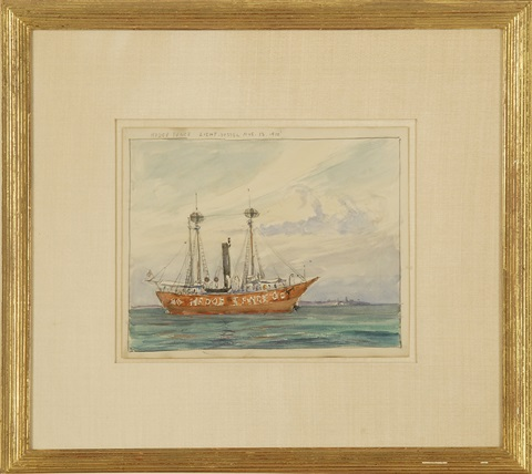 hedge fence light vessel aug 13 1910 by reynolds beal