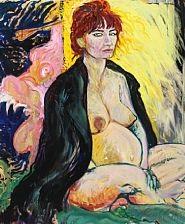 portrait of a pregnant woman by hans odlau krull