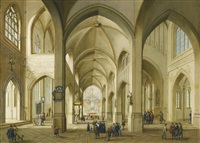 interior of a gothic church by johann friedrich morgenstern