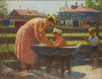 an afternoon bath by andrei lysenko