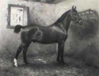 portrait of the horse 'nala' by richard newton ii