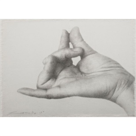 no 19 from hand signals series by lin tianmiao