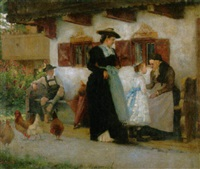 vor dem kirchgang zur erstkommunion by hugo loffler