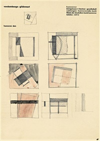 kompositionen (studies) by friedrich vordemberge-gildewart