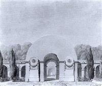 projet pour l'entree d'un cimetiere - 1813 by louis hippolyte le bas