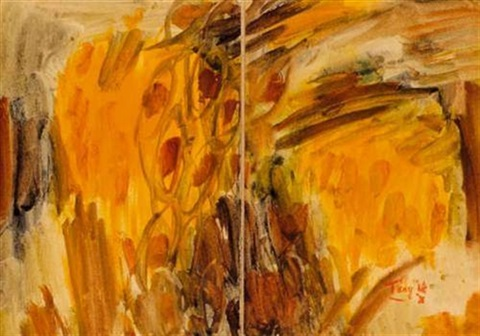 tournesols diptych by tang haywen