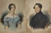 paar porträts carl august bülow (1813-1884) und pauline mathilde friederike bülow, geb. fürneisen (1815-1886) by wilhelm bülow