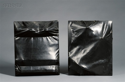 lot of two wrapped bas reliefs by jack roth