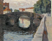 kanal in brügge im abendlicht by jacques jacobi