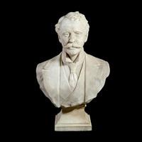 bust of herbert william allingham f.r.c.s by albert toft