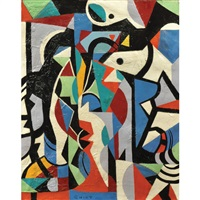 abstract composition by walter quirt