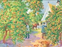recogida de naranjas by erwin hubert