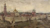 ansicht des novodevichij monastir in moskau by aleksandr aleksandrovich glazunov
