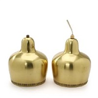 golden bell (set of 2) by alvar aalto