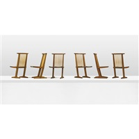 conoid dining chairs (set of 6) by mira nakashima-yarnall