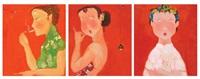 portraits (3 works) by ji xiaofeng