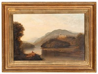 landscape with river and castle by walter scott