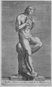 tre incisioni di sculture romane (from antiquarum statuarum urbis romae, quae in publicis privatisque locis visintur icones... romae) (3 works) by cherubino alberti