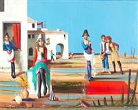 surrealist landscape by jean-pierre serrier