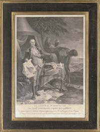 general washington (+ the marquess de la fayette; 2 works) by noël le mire