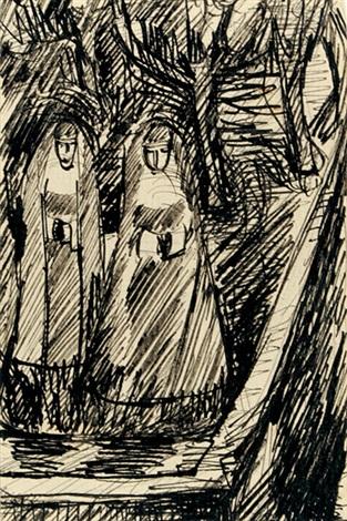 zwei nonnen im klostergarten by hannah höch