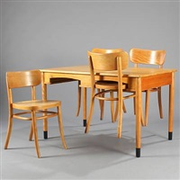 a dining table and chairs (set of 5) by magnus læssoe stephensen