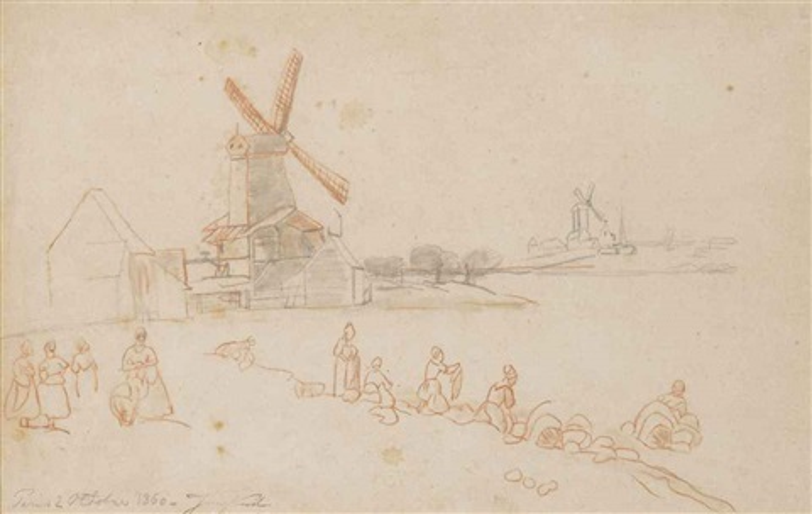 windmill by johan barthold jongkind