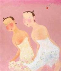 two figures by ji xiaofeng