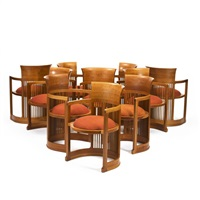 fauteuils modèle 1907 (set of 10) by frank lloyd wright