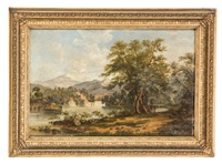 loch katrine landscapes (pair) by robert hopkin
