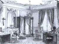 chambre a coucher de la duchesse d'alencon avenue      friedland en 1897 by georges remoy