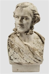 bust of a gentleman with bushy sideburns by john adams-acton