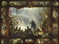 die apotheose des malers wilhelm von kaulbach by karl theodor von piloty