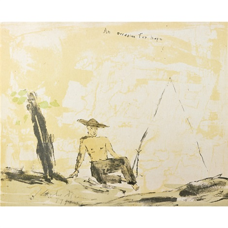 lilacs & smoke, 1987-1990 (12 works) by nicolas africano
